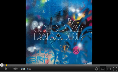 COLDPLAY. PARADISE