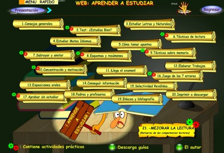 TÉCNICAS DE ESTUDIO. WEB APRENDE A ESTUDIAR