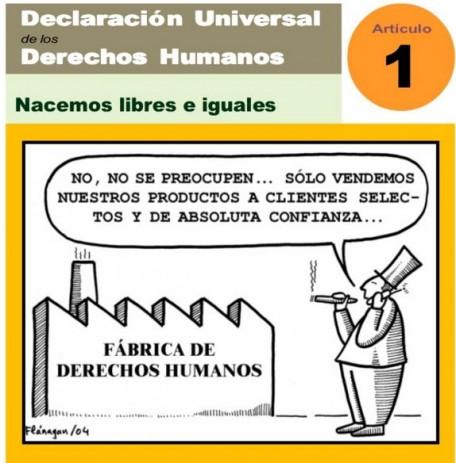 10 DE DICIEMBRE. DÍA DE LA DECLARACIÓN UNIVERSAL DE LOS DERECHOS HUMANOS