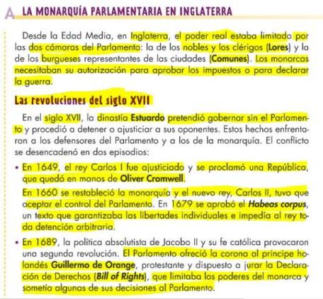 SISTEMA PARLAMENTARIO DE INGLATERRA + EJECUCIÓN DE CARLOS I DE INGLATERRA (PELÍCULA MATAR UN REY) ACTIVIDADES