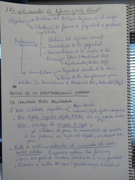 INDUSTRIA TEXTIL CATALAÑA. SIDERURGIA, MINERIA S. XIX ESPAÑA