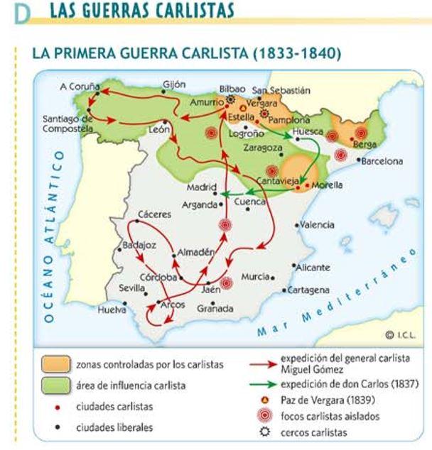 MAPA GUERRA CARLISTA