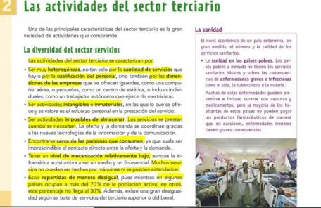 LAS ACTIVIDADES DEL SECTOR TERCIARIO