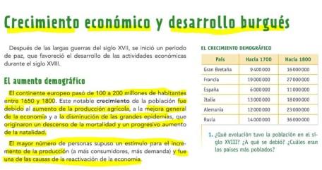 CRECIMIENTO ECONÓMICO Y DESAROLLO BURGUÉS + EL COMERCIO TRIANGULAR
