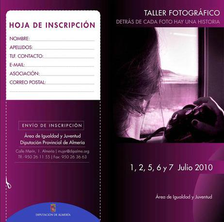 Diputación Almería: Taller Fotográfico