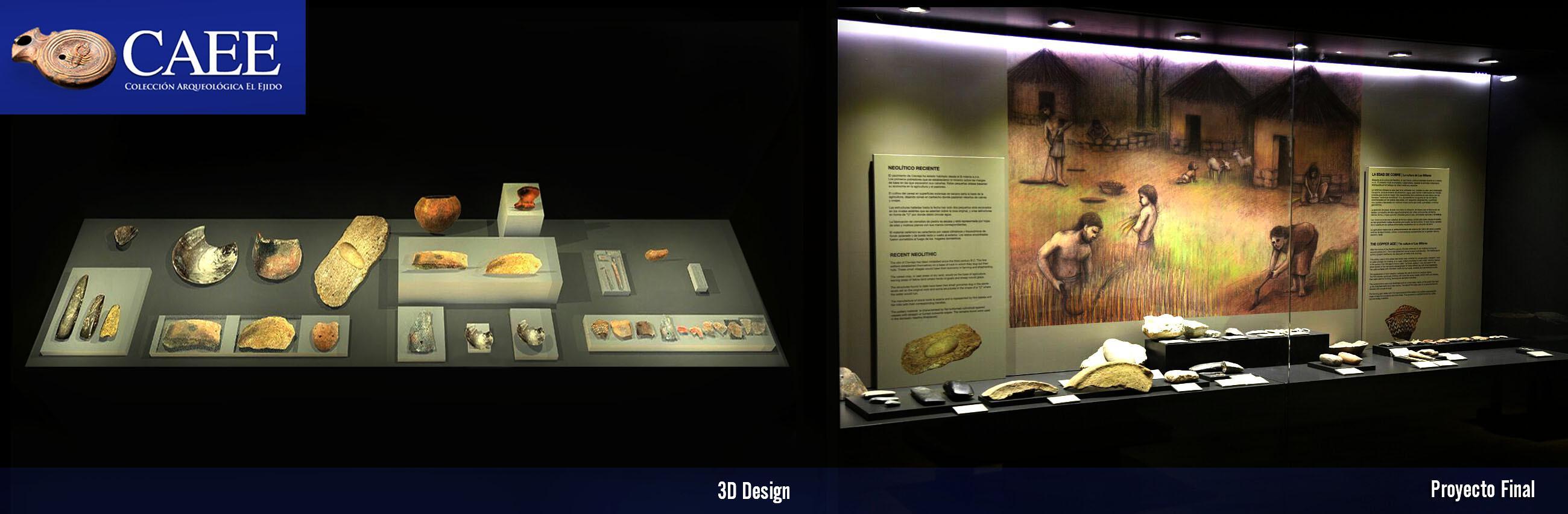 Diseño Gráfico Expositivo 2D | 3D. CAEE | Colección Arqueológica de El Ejido.